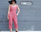 Red Plaid Playsuit