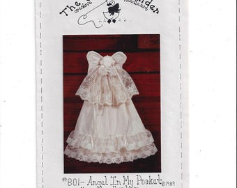 The Galley Gander 801 Pattern for Angel In My Pocket, UNCUT, From 1989, Heavenly Heirloom, by Judith Ann, Holiday Decor, Vintage Pattern
