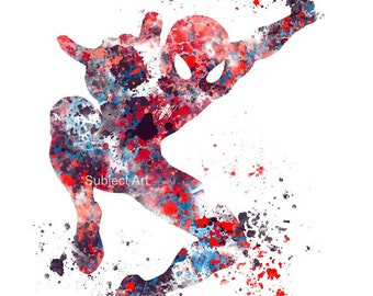 Spiderman ART PRINT illustration, Superhero, Home Decor, Wall Art, Marvel