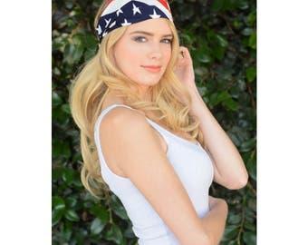 American Flag Headband / July 4th headband/ Women Headbands / Gifts For Her / Accessories / Handmade