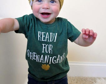 St. Patrick's Day Shirt - Kids Shenanigans Shirt - Kids St. Patrick's Day Shirt - Lucky Shirt - Shamrock Shirt - St. Patty's Day Shirt