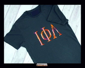 how to make iron on greek letters