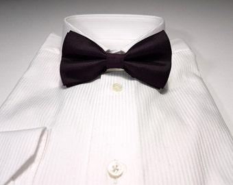 Bow Tie in PLUM Dark Purple Solid