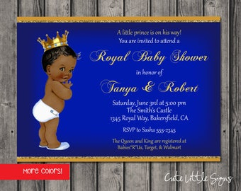 Royal Prince Baby Shower Invitation Digital Download
