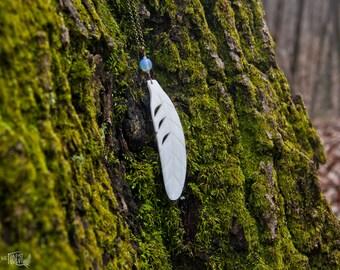 Sea Bird - Shell Feather Necklace