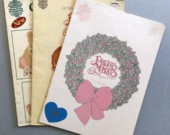 Lot of 3 Cross Stitch Pattern Books (Precious Moments & Cherished Teddies)