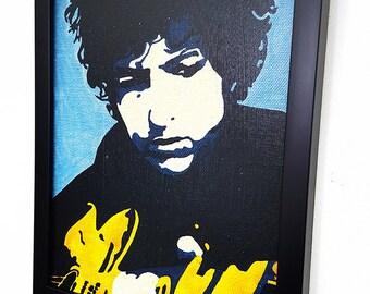 Bob Dylan RETRO-Pop Art Wall Art Framed Giclee Canvas Framed Paint,Painting, Poster,Print