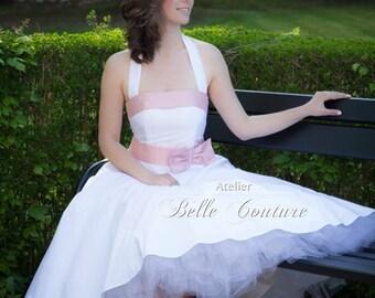 Custom Made & Handmade - Tea-Lenght Petticoat Wedding Dress item: Sherly