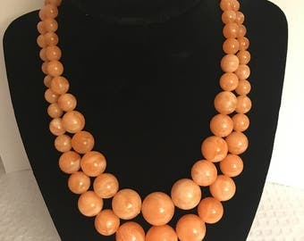 Two-Strand Coral Necklace