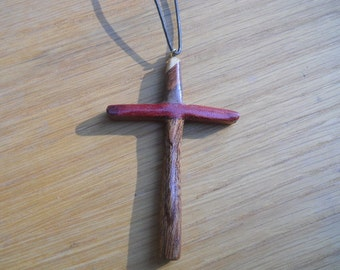 Hand Carved Wooden Cross Necklace (2)