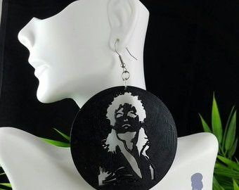 Beat It! (Michael Jackson)- Handmade Wooden Earrings