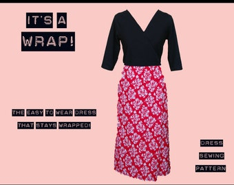 Wrap Dress Sewing Pattern - Simple Easy to Sew Digital pdf for ladies