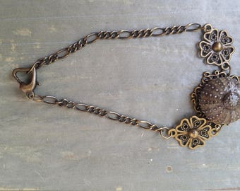 UNIQUE Real Sea URCHIN adjustable bracelet