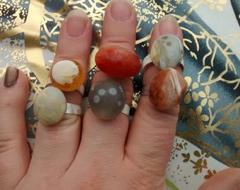 Old agate rings - choose one or let me surprise you!