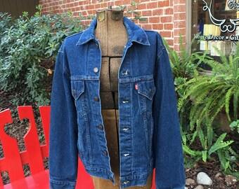 Levi's Denim Jacket--Levi Trucker Jacket--Vintage Levis Jacket--Vintage Levi Jacket--Type III Jacket--70506 0217