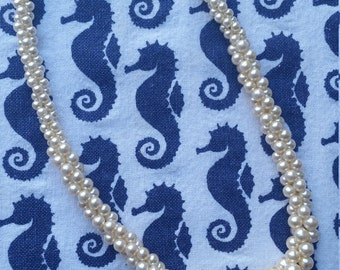 Napier Triple Strand Simulated Pearl Necklace