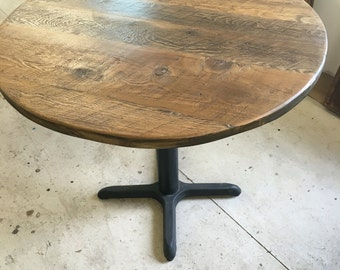Round dining table top,reclaimed wood variety/Add your base,Custom made to order 24 inch round table top