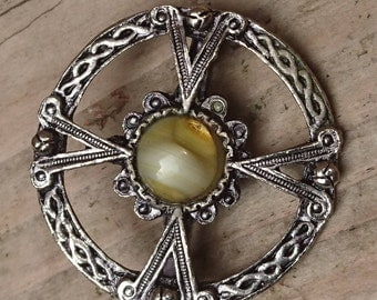 Vintage celtic brooch