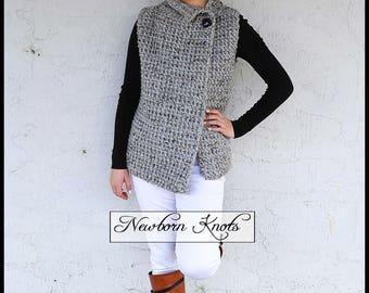 Crochet Pattern The Sherwood Vest. Pattern number 084. Instant Download