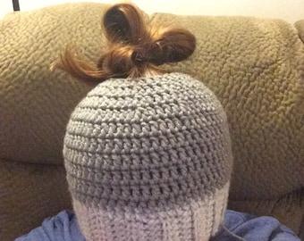 Crochet Bun Hat Pattern- Adult Size