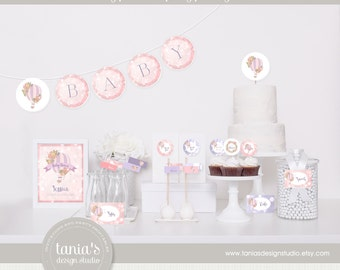 Hot Air Balloon Baby Shower Printable Party Package by tania's design studio