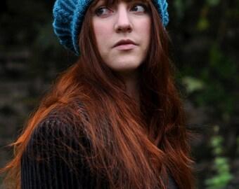 Tamya cable beret PDF knitting pattern (instructions)