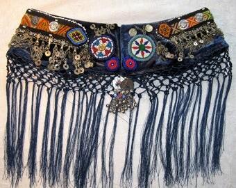 Tribal belt,Belly dance belt,Tribal Fusion ATS Gypsy belt,Tribal kuchi chain belt,Tribal fringe belt,Afghan belt, Tribal belly dance