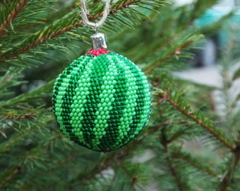 Vegan gifts\for\vegans vegetarian gift birthday party Watermelon christmas ornaments handmade fruit ornaments kitchen decor green decoration
