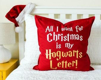 """Christmas Decor """"All I Want for Christmas..."""" Pillow"""