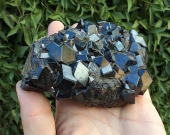 Large Melanite Garnet Cluster