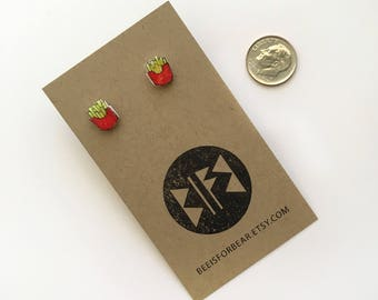French Fry / Pomme Frites Stud Earrings