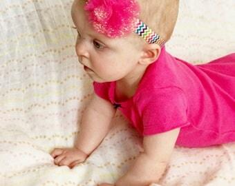 Pink Sparkle Tulle Headband