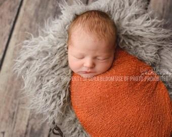 Stretch Knit Wrap, Orange Knit Wrap, Knit wrap, Newborn Knit Wrap, Photography Knit Wrap, Knit Wrap, Photography Prop, Newborn Prop