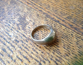 Plain Sterling Pillow ring , size 7.5