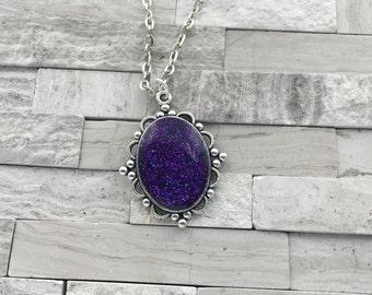 Shimmer purple pendant