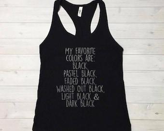 All Black Everything, Black Shirt, Black Tank, Womens Black Tank, Favorite Color Black, Black with Black, Black Goes With Everything
