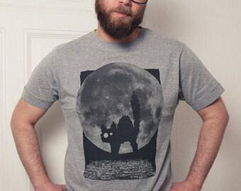 Cat Minka Fauch - men - bio fair wear T-Shirt - dark Heather grey