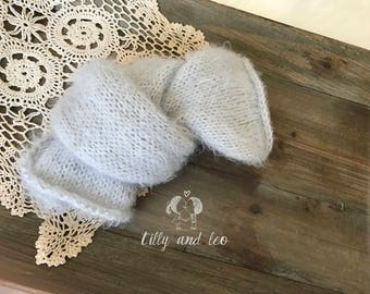 Newborn Swaddle Blanket/Stretch Knit Baby Wrap/Soft Stretch Newborn Photo Prop Blanket/Silver Gray Knit Blanket/Ready to Ship