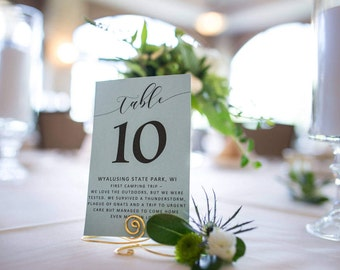 Gold wedding table number holders, set of 12 table number holder stands, silver and black holder stands also available