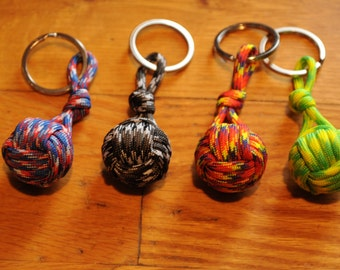 Nautical Key Chain - Rope Knots - KeyChain - Monkey Fist Knot Keychain - (this listing is for 1)