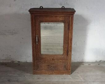 French Wood Cabinet, Bathroom Cabinet, Medicine Cabinet, Rustic Wood Cabinet, Apothecary Cabinet, Wall Storage Cabinet, French Furniture