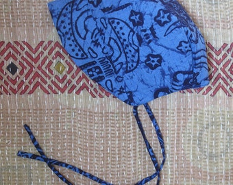 Baby Bonnet, vintage batik LUNAR print, beach, sun hat