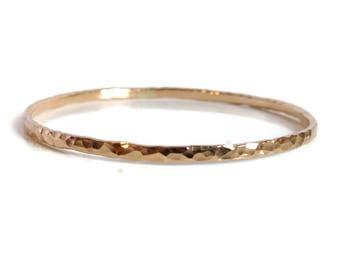 Hammered Gold Bangle Gold Bangle Bracelet Gold Filled Bangle Classic Bangle Hand Forged Bangle Textured Bangle Gold Stacking Bangle