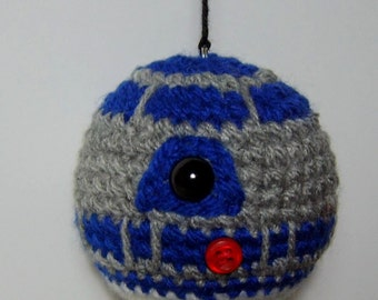 Star Wars R2D2 inspired crochet Baubles