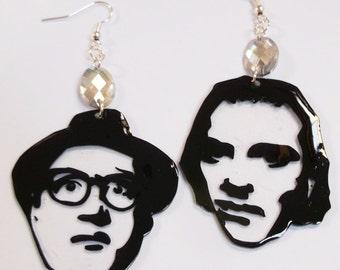 Richie and Eddie/Bottom kitsch handmade shrink-plastic earrings