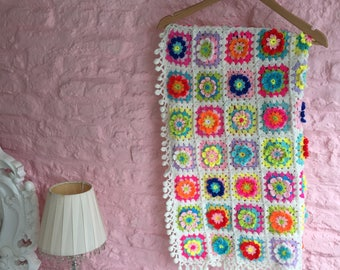 Unique Colourful Crochet Baby Blanket