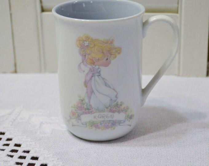Vintage Precious Moments Cup Mug Karen Enesco 1989 Panchosporch