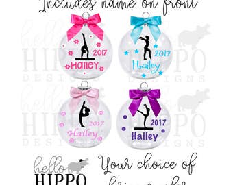 Personalized Gymnastics Ornament/ Christmas Ornament for Gymnast/ Bulk Gymnastics Team Gift/ Gymnastics Coach Gift Includes Gift Box