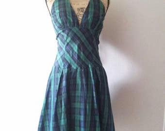 Awesome 90s 'Teeze Me' Plaid Punk Style Dress