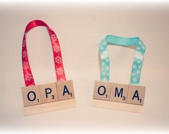 Christmas Ornament, Oma, Opa, Oma Ornament, Opa Ornament, Grammy Ornament, Grammy Gift,  Mimi, Nana Gift, Nana Ornament, Grampy, Funeral